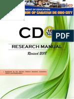 Updated CDO Research Manual Cdo