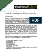 2018-11-26 Communiqué Officiel Gilets Jaunes