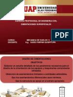 EXP.DISEÑO DE CIMENTACIONES SUPERFICIALES DE SUELOS.pptx
