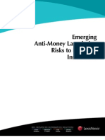 Anti-Money Laundering Risks to Financial Institutions
