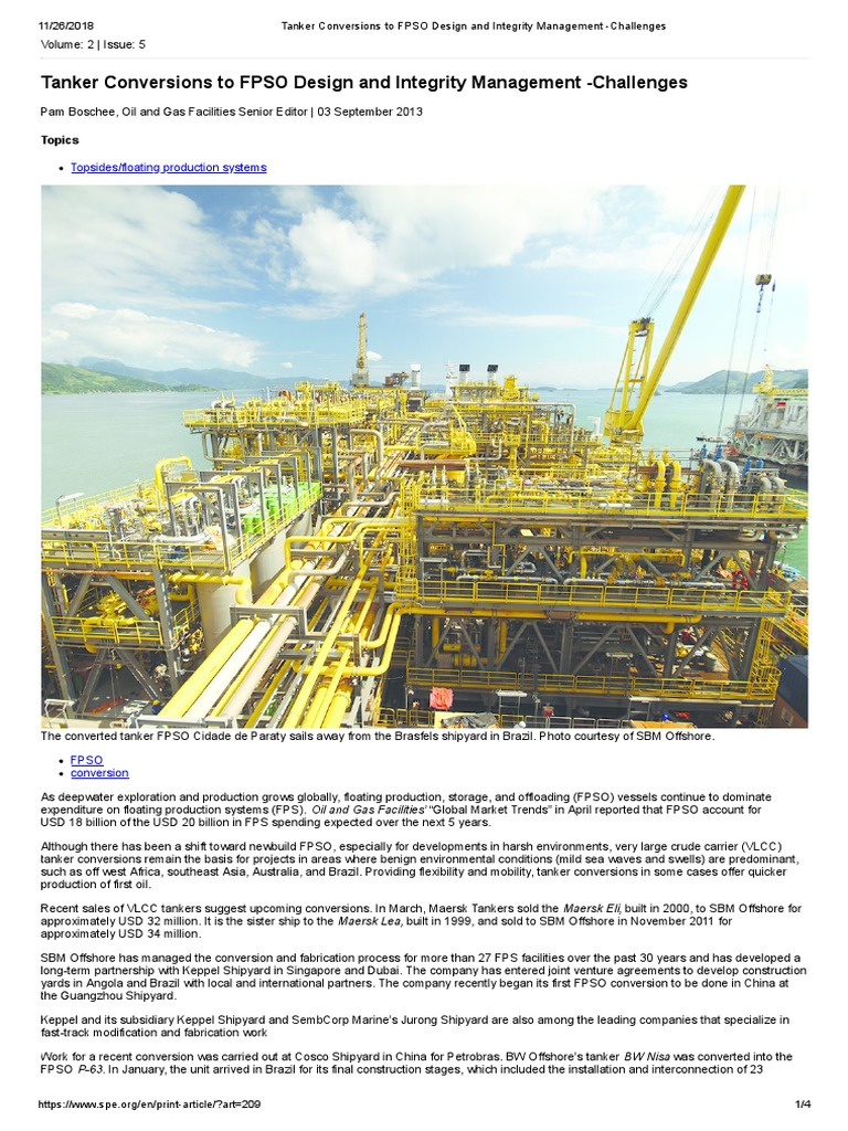 62504aa0a2 Tanker Conversions to FPSO Design and Integrity Management -Challenges