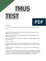 Elitmus ph test