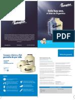 Rotoplas Manual Garantia de Por Vida Tanques Clasico y Flat 1