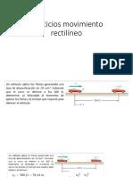Ejercicios Movimiento Rectilíneo 1 Clase