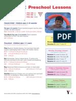 Decatur-DeKalb Family YMCA Pool Schedule