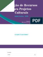 Captação de Recursos para projetos culturais no RJ - V Semana Biblio UFRJ