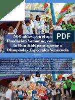 Yammine - 500 Niños, Con El Apoyo de Fundación Yammine, Correrán en La Run Kids Para Apoyar a Olimpiadas Especiales Venezuela