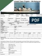 F76 Mermaid - Mermaid Class Frigate - UK-Malaysia