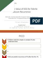 Predictive Value of Eeg for Febrile Seizure Reccurence Ppt