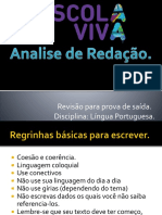 Analise de Redação - Prova de Saida.