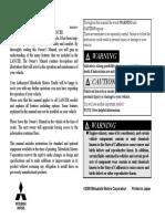 Mitsubishi Lancer 2009 Owner Manual