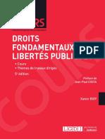 Partiels 2018 Lextenso Étudiant Jour 1 - L3 - Droit fondamentaux et libertés publiques (LGDJ - Cours)