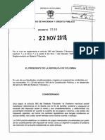 Decreto 2146 Del 22 de Noviembre de 2018