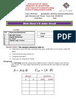 Work Sheet 8 Adder