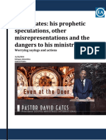 David Gates-his Prophetic Speculations