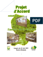 Projet d'accord relatif à l'avenir de la Guyane de 2001