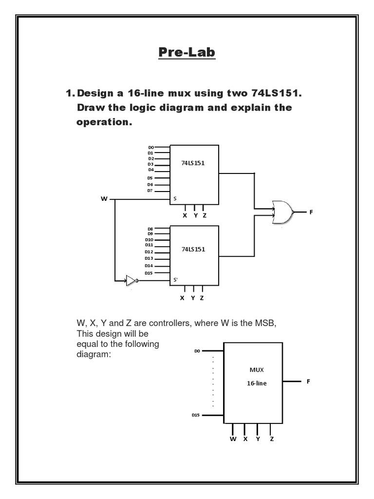 74ls151 Pin Diagram Wiring Libraries Multiplex Schematicsprelab Multiplexing Chess