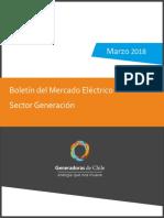 Boletin Sector Generacion Mercado Electrico Marzo 2018