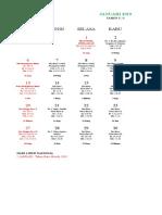 Konsep Kalender Liturgi Tahun 2019