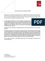 Communiqué de Presse_Vigilance Sécheresse Sur La Nappe de La Doller