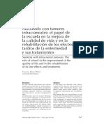 Alumnado con tumores intracraneales- el papel de la escuela en la mejora de la calidad de vida y en la rehabilitación de los efectos tardíos de la enfermedad y sus tratamientos