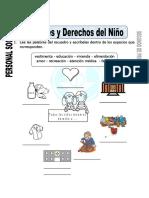Ficha de Deberes y Derechos Del Niño Para Segundo de Primaria