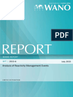 Analysis of Reactivity Management Events