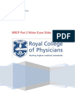 MRCP Part 2 Written Exam Slides (Medicos Republic)
