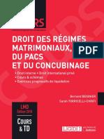 Partiels 2018 Lextenso Étudiant Jour 4 - L3 - Droit des régimes matrimoniaux (LGDJ - Cours)
