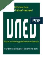 2017-2018 Técnicas Instrumentos Procedimientos de Observación