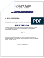 CERTIFICADO MEDICO SSM