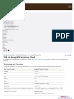 SQL to MongoDB Mapping Chart