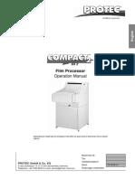 Manual de Usuario Procesadora de RX Protec Compact 2 (Inglés)