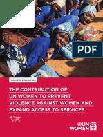 UN Women Corporate Evaluation on EVAW_VOL1 PDF