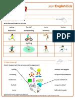 Sport worksheet