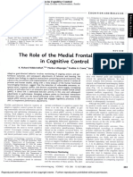 The role of the Posterior Medial Frontal Cortex in Cognitive Control