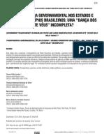 TRANSPARÊNCIA GOVERNAMENTAL NOS ESTADOS E GRANDES MUNICÍPIOS BRASILEIROS