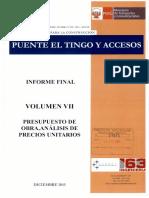 Volumen 7 Presupuesto de Obra