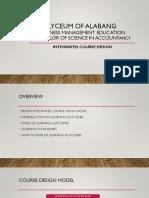 Integrated Course Design