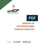 Manual de Contrataciones Publicas Para Uoc
