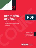 Partiels 2018 Lextenso Étudiant Jour 3 - L2 - Droit pénal général #Sujet (LGDJ - Cours)