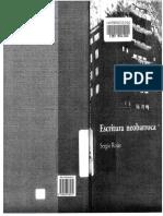 Escritura Neobarroca - Sergio Rojas