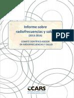 Informe CCARS Radiofrecuencia y Salud 2016