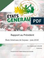 Rapport Etats Generaux de Guyane 2018