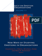 (Research on Emotion in Organizations) Charmine E. J. Hartel, Wilfred J. Zerbe, Neal M. Ashkanasy (Eds.)-New Ways of Studying Emotions in Organizations-Emerald Group (2015)