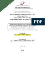 INFORME PRELIMINAR de Proyecto SSU Responsabilidad Social VII Edgar Paloino López
