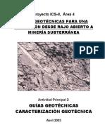 Guía de caracterización geotécnica