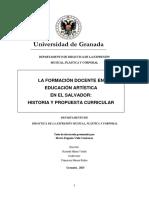 1- La Formación Docente en Educación Artística en El Salvador- Historia y Propuesta Curricular