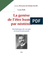 Sniadecki LÑois Bolk Bolk-Neotenie