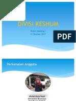 DIVISI KESHUM